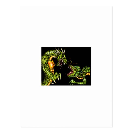 dualing dragons postcard