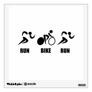 Duathlon Run Bike Run Wall Decal