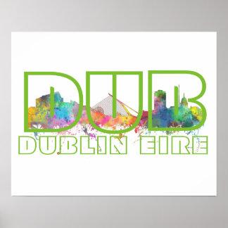 DUB DUBLINE EIRE - Poster