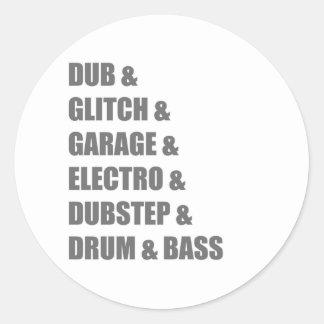 Dub Electro Glitch Dubstep Drum and Bass shirt Sticker