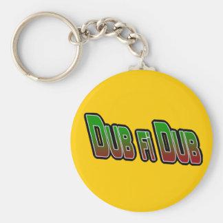 Dub fi Dub Basic Round Button Keychain