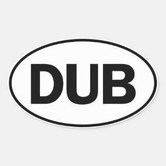 DUB Oval Identity Sign Oval Sticker