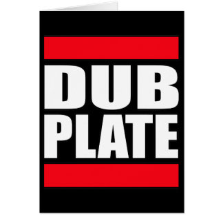 Dub Plate Dubplate Greeting Cards