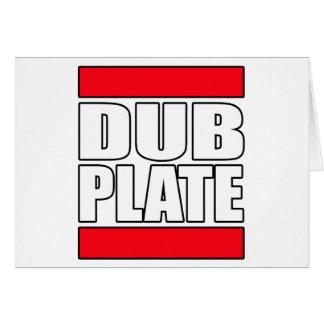 Dub Plate Dubplate Card