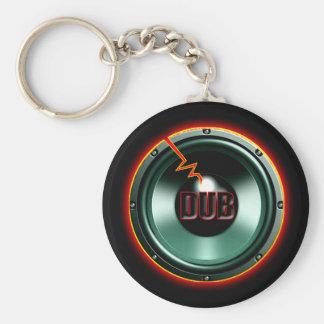 DUB RED HOT WOOFER t-shirts Basic Round Button Keychain
