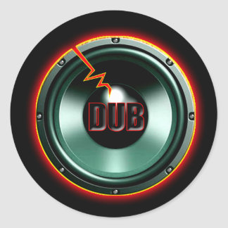 DUB RED HOT WOOFER t-shirts Classic Round Sticker