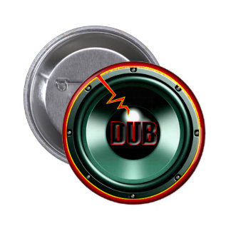 DUB RED HOT WOOFER t-shirts Pinback Button