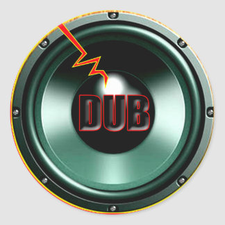 DUB RED HOT WOOFER t-shirts Round Stickers