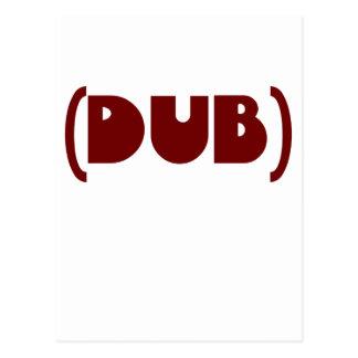 DUB shirt Postcard
