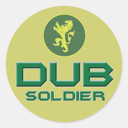 Dub Soldier Classic Round Sticker