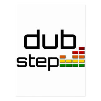 Dub Step Music with Stereo Equalizer Postcard