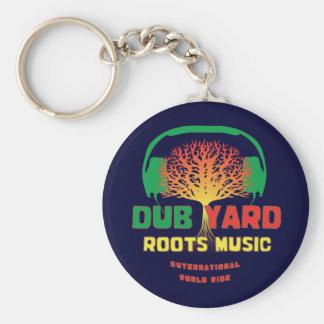 Dub Yard Roots Music Basic Round Button Keychain