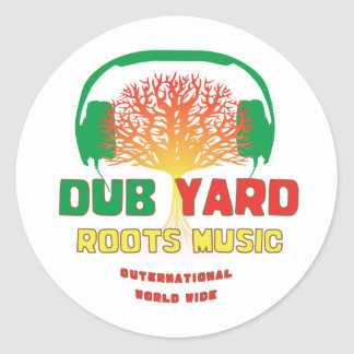 Dub Yard Roots Music Classic Round Sticker