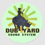 Dub Yard Sound System Classic Round Sticker