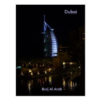 Dubai, árabe del Al de Burj Tarjetas Postales