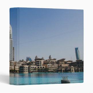 Dubai architecture 3 ring binder