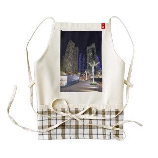 Dubai architecture at night zazzle HEART apron