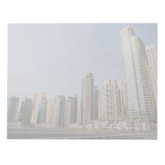 Dubai architecture note pad