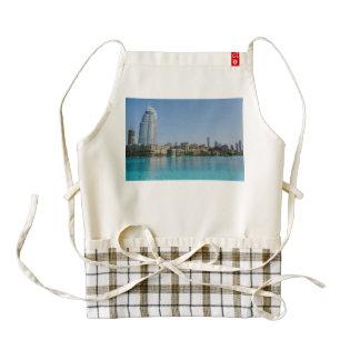 Dubai architecture zazzle HEART apron