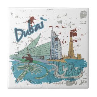 Dubai Azulejo Cuadrado Pequeño