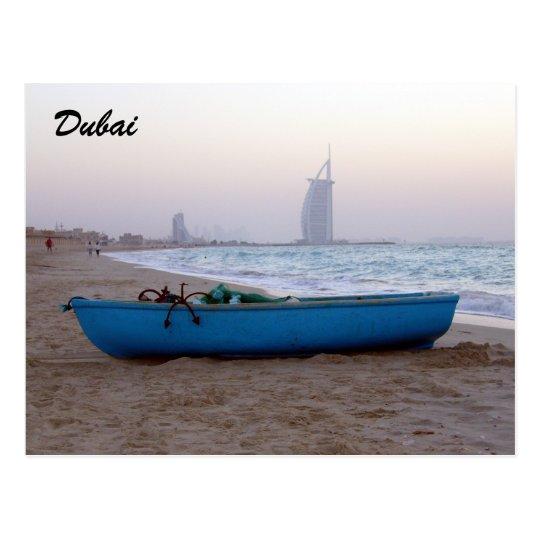 dubai beach boat postcard
