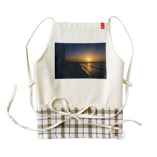 Dubai beach sunset zazzle HEART apron