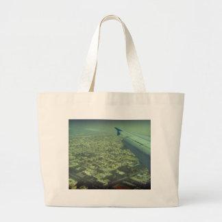Dubai bird eye view tote bags