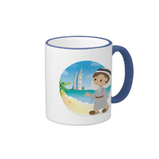 Dubai boy ringer coffee mug