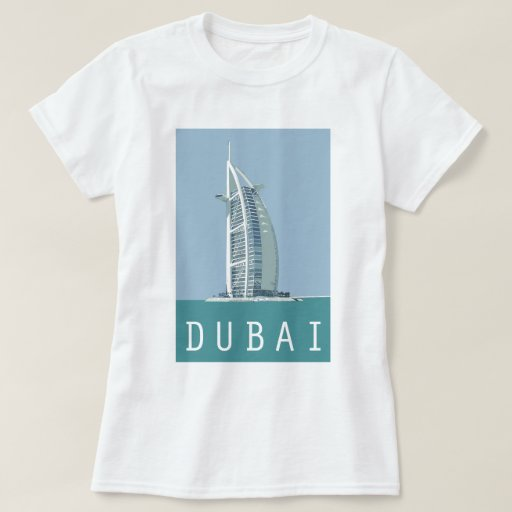 Dubai burj al arab t shirt zazzle for T shirt printing mobile al