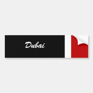 Dubai Etiqueta De Parachoque
