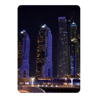 Dubai Cayan Tower at night Card