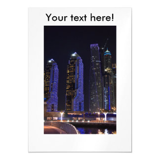 Dubai Cayan Tower at night Magnetic Card