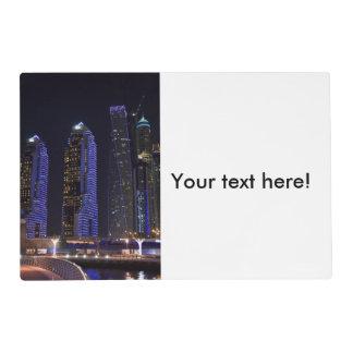 Dubai Cayan Tower at night Placemat