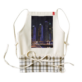 Dubai Cayan Tower at night Zazzle HEART Apron