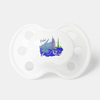 dubai city blue graphic travel design png baby pacifier