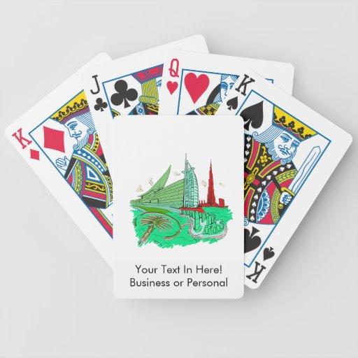dubai city no txt green 2 graphic travel design.pn bicycle card decks