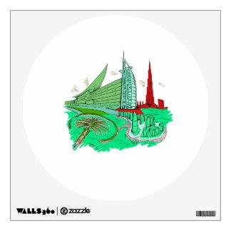dubai city no txt green 2 graphic travel design.pn room stickers