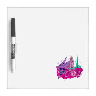 dubai city no txt pink graphic travel design.png Dry-Erase board