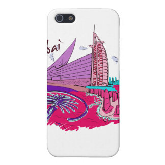 dubai city pink graphic travel design.png case for iPhone SE/5/5s