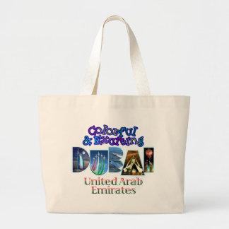Dubai colorido y emocionante bolsa lienzo