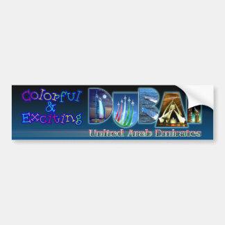 Dubai colorido y emocionante pegatina de parachoque