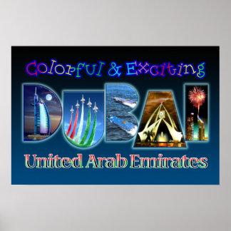 Dubai colorido y emocionante póster