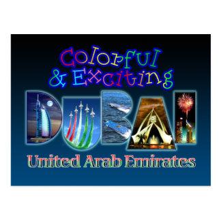 Dubai colorido y emocionante postal