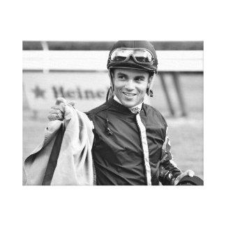 Dubai Derby winning jockey Joel Rosario Canvas Print