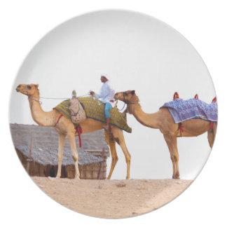 Dubai desert dinner plate