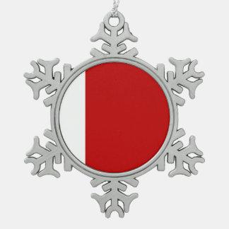 Dubai Flag Snowflake Pewter Christmas Ornament