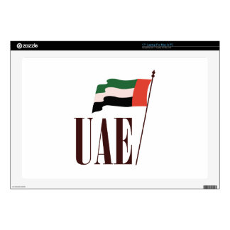 "Dubai Flag UAE Decal For 17"" Laptop"