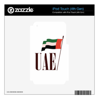 Dubai Flag UAE Decal For iPod Touch 4G