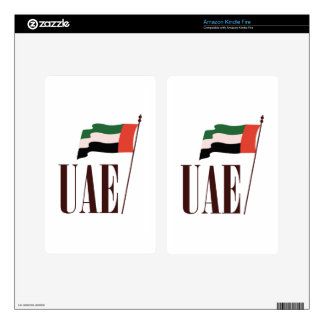 Dubai Flag UAE Kindle Fire Decal