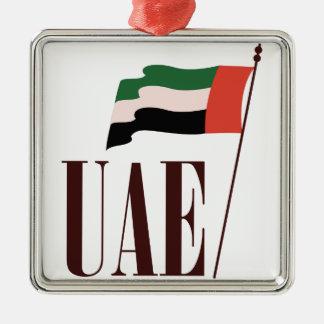 Dubai Flag UAE Metal Ornament